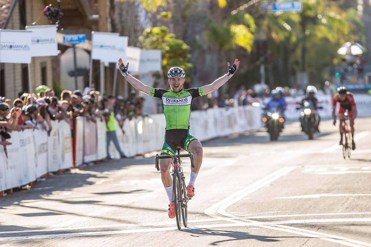 Lockwood escapes to win 35th Redlands Bicycle Classic, Simmons solos